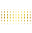 candle gold halftone array vector image vector image