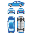 Car in different views vector image
