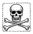 cartoon image of hazard warning attention sign vector image vector image