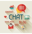 Chat concept in flat design style vector image vector image