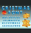 christmas font easy to modify vector image vector image