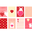 Collection of Valentines day vector image vector image