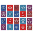 collection rounded square dotted icons food vector image