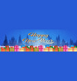 colorful gift boxes decoration new year merry vector image