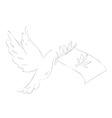 Conceptual peace vector image vector image
