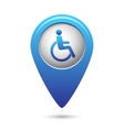 Disabled icon on map pointer vector image
