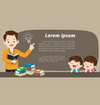 education banner background vector image vector image