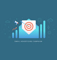 email advertising digital marketing campaign vector image vector image