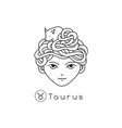 girl zodiac sign vector image