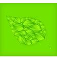 green leaf green background vector image vector image