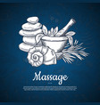 hand drawn spa elements background with vector image vector image