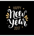 Happy New Year 2017 poster vector image vector image