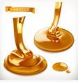 honey 3d icon set vector image vector image