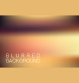 horizontal wide brown blurred background vector image vector image