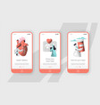 hospital cardiology care heart health mobile app vector image