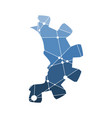 industry flat emblem vector image vector image