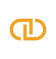 initial letter cd symbol logo design vector image vector image