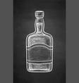 ink sketch whiskey bottle vector image vector image