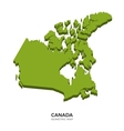 Isometric map of Canada detailed vector image vector image
