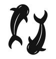 koi carp icon simple style vector image vector image