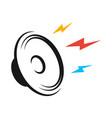 loudspeaker black logo on white design background vector image