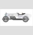 old sport car or vintage retro racing collector vector image vector image