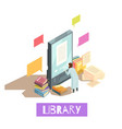 online library isometric design concept vector image vector image
