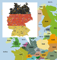 Original map of Europe and Germany vector image vector image