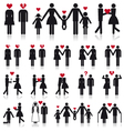 People in love icon set