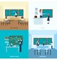 School Education Concept Set vector image vector image