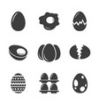 set egg related icons vector image