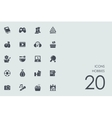 Set of hobbies icons vector image