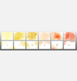 set yellow orange pastel watercolor background vector image
