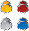 Shield and emblem vector image vector image