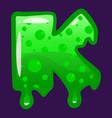 slime font type letter k latin alphabet green vector image vector image