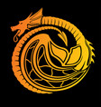 stylized fire dragon vector image