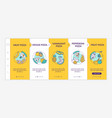 top pizza types onboarding template vector image