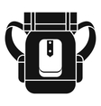 Tourist backpack icon simple style vector image