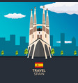 travel to spain skyline flat vector image vector image