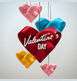valentines day banner vector image vector image