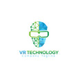vr technology design vector image vector image