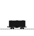 wagon cargo railroad train black transportation ic vector image