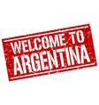 welcome to argentina stamp vector image vector image