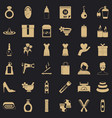 woman perfume icons set simple style vector image vector image