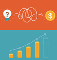 idea to business plan concept in flat style vector image