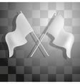 Racing checkered background vector image