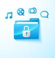 secure multimedia folder vector image