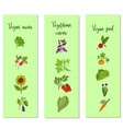 eco food vegan menu templates vector image