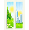 Two Cool Vertical Banners vector image