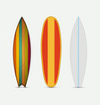 modern colorful surfboard set vector image